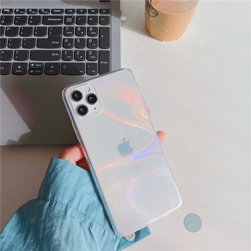 Rainbow Aurora Transparent Case