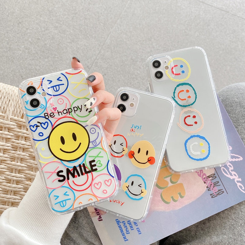 Smiley Transparent Case