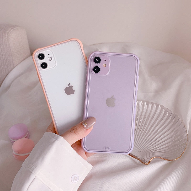 Simple Solid Candy Color Case