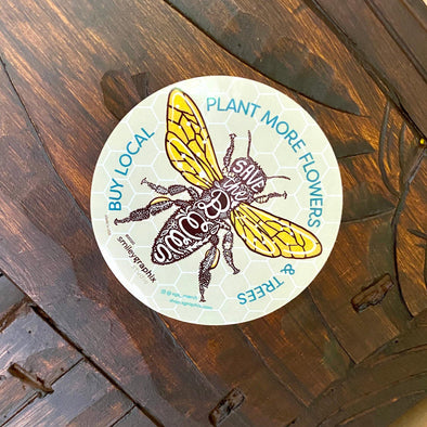 Bees - Plant Flowers and Trees Sticker