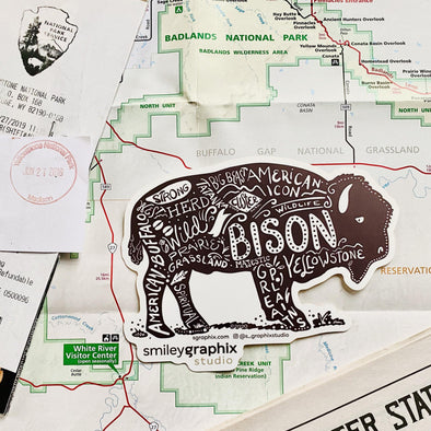 Yellowstone Bison Sticker