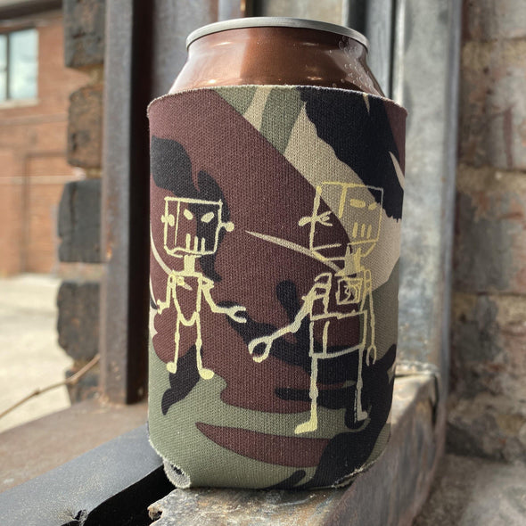 4 Pack Drink Koozies - Robots on Cammo