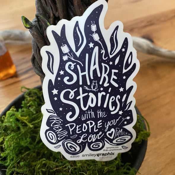 Share Stories with the Ones You Love Sticker