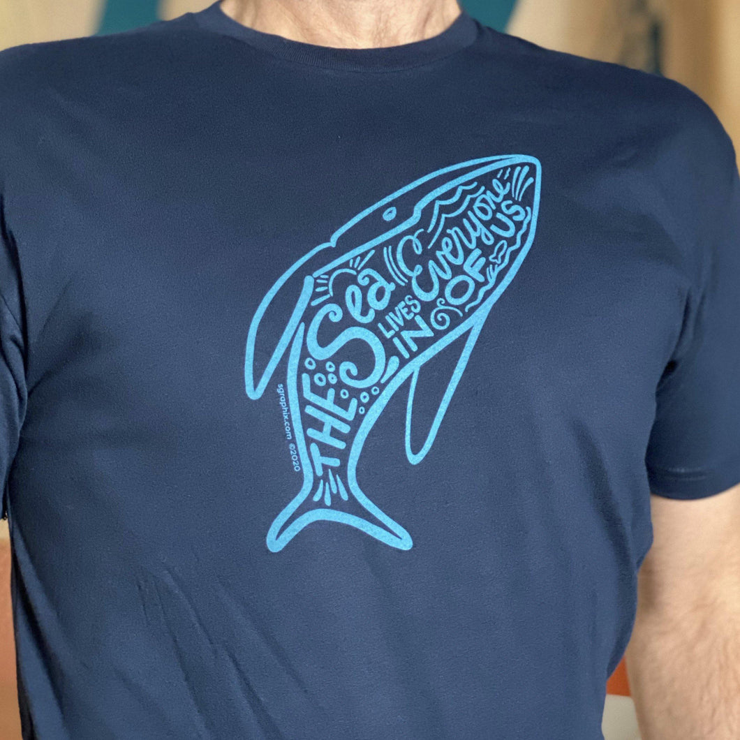 The Sea Lives in Every One of Us Graphic Tee