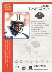 Joe Tafoya Rookie Card NFL