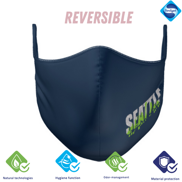 Navy SEATTLE Reversible Mask W/Antimicrobial & Odor Protection