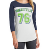Lady 12 Fooball fashion seattle seahawk logo womens football clothing baseball jersey style t-shirt