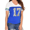 lady-12-Women's T-Shirt #17 Seattle Football-Inspired Throwback Jersey-front