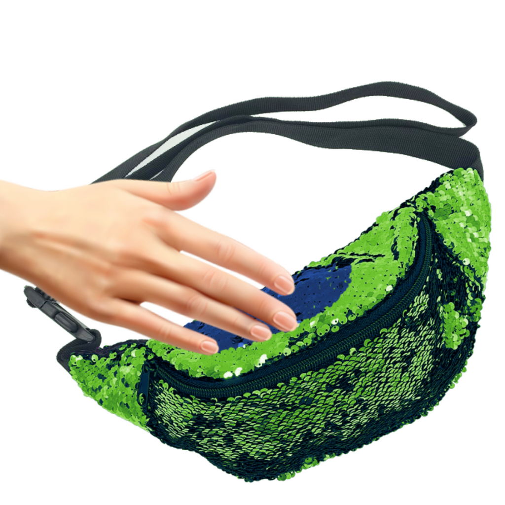 Mermaid Sequin Fanny Pack  Lime/ Navy