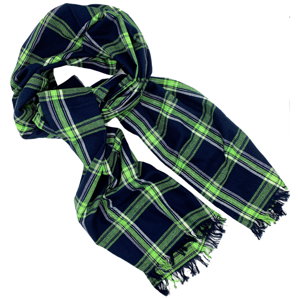 Plaid Flannel Blanket Scarf