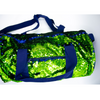 Mermaid Sequin Duffle Bag -  Lime/ Navy