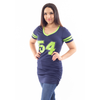 Women's Jersey Dress V-Neck with #54 logo by Lady 12