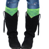 Lime Green Lace Boot Cuff / Boot Topper by Lady 12 Football Fashions