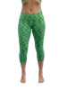 Our mid-rise capri length yoga pant with a hidden pocket from Lady 12 Lime Green