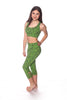 Green Lace Capri