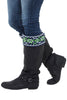 The boot sock will keep your toes warm and the top band folds over your boot