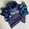 Women's Seattle Skyline V-Neck Shirt & Accessory Pack Blue Friday Special