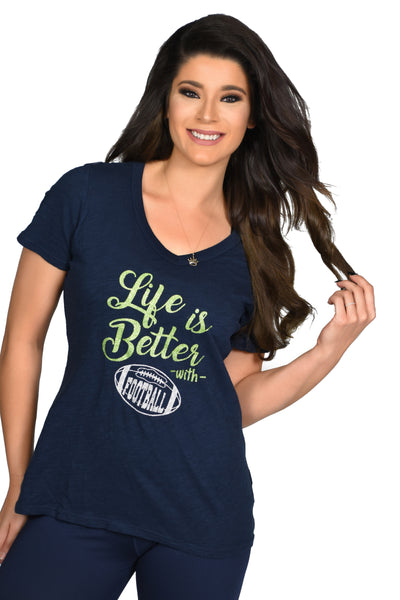 Life is Better With Football Tee