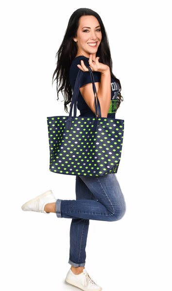 Football Pattern Tote Bag