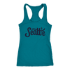 Women's Racerback Tank Top Seattle Lady 12 Design