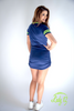 Women's V-Neck Seattle Football Dress #16 Navy/Lime Green Form Fitting
