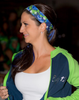 Wear this floral headband to a Seattle football game. Green & Navy
