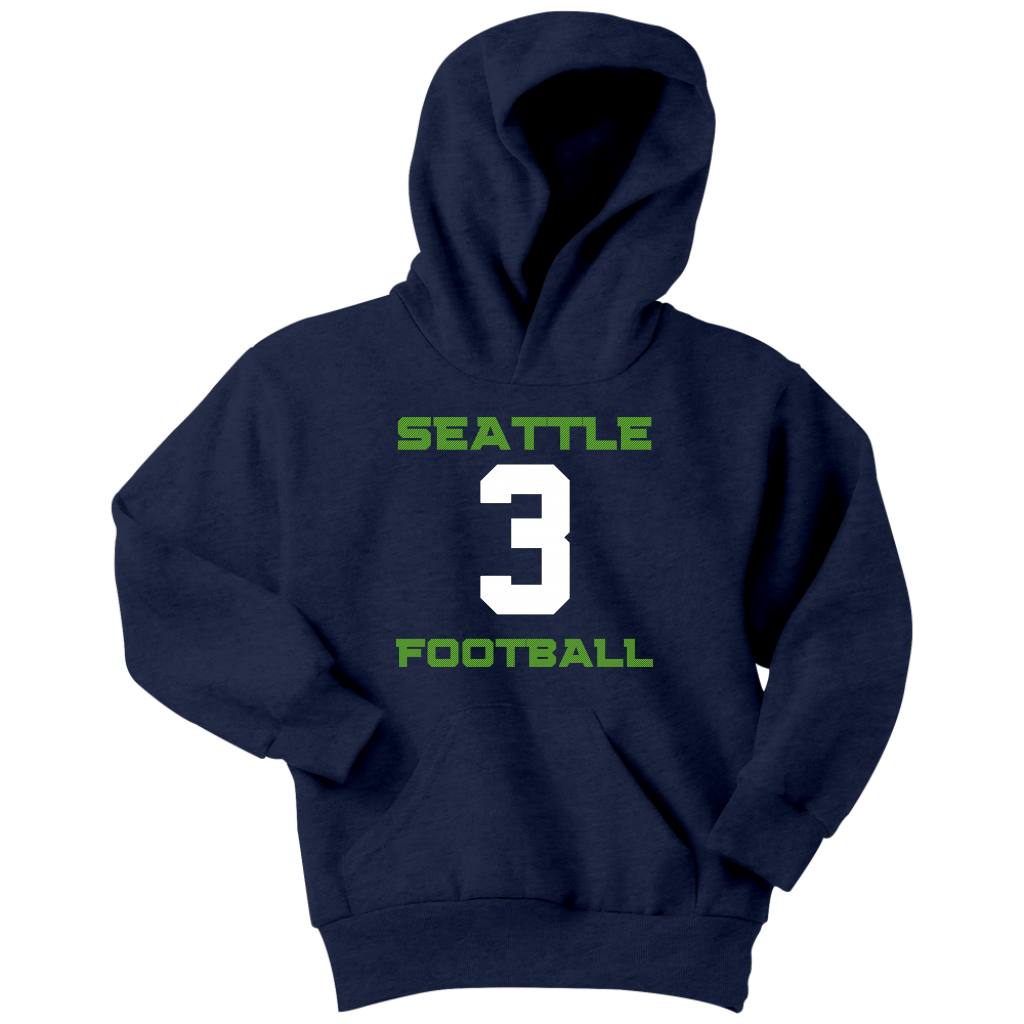 Youth Hoodie Seattle Hawks Football #3 Navy