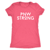 Women's PNW Strong / Pacific Northwest Strong Next Level Triblend Crewneck T-shirt |Multiple Colors|