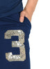 Show off your team bling. A bright sequin number 3 logo is featured prominently on the leg.