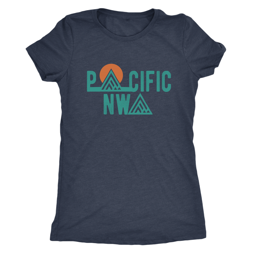 Women's Tri-Blend Shirt Pacific North West Crew Neck