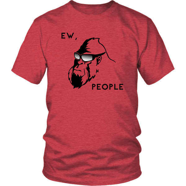 Bigfoot T-Shirt Funny Design With Cool Squatch Ew, People... Multiple Colors |UNISEX|