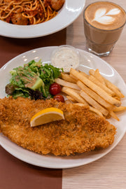Italian Herb Crusted Fish & Chips