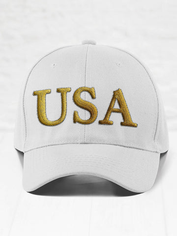 USA - Gold on White