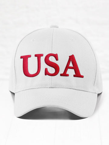 USA - Red on White