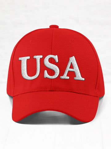 USA - White on Red