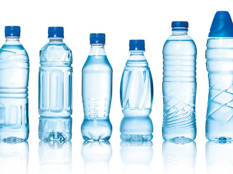 Different shaped water bottles