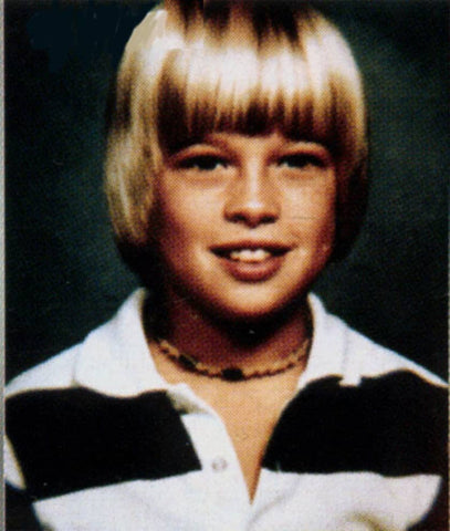 Would you guess that this young guy would have the worlds most famous jawline when he grew up?