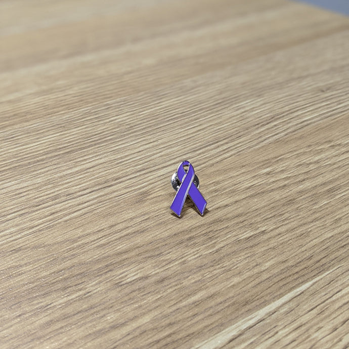 Pancreatic Cancer Awareness Metal Pin - Ribbon Design
