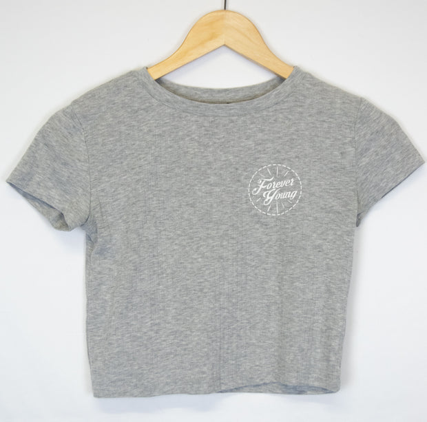 "Camiseta gris ""Forever Young"""