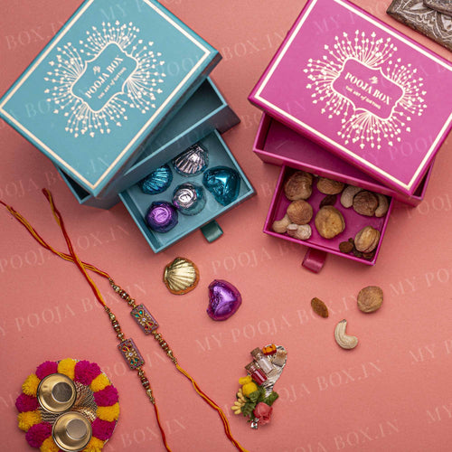 Jeweled Pink Rakhi Gift Box