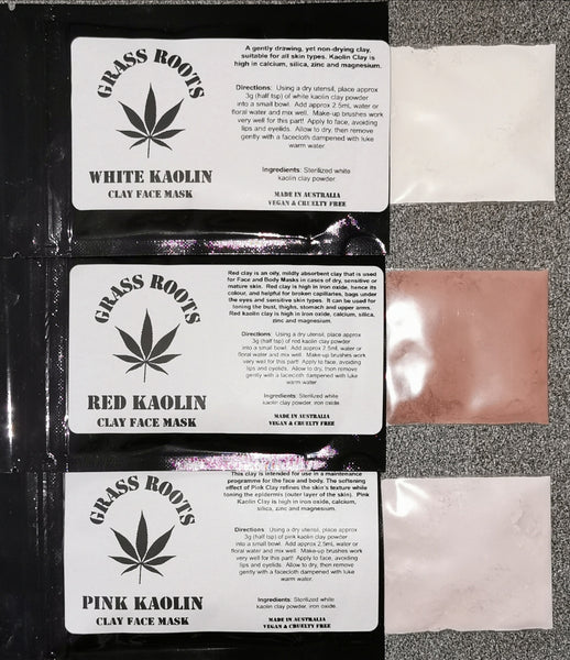 Kaolin Clay Mask - Red, Pink, White