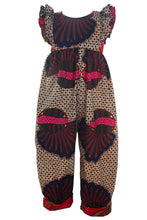 Load image into Gallery viewer, African print double ruffle jumpsuit - Seashell Pink