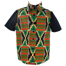 Load image into Gallery viewer, African print short sleeve shirt - Kente