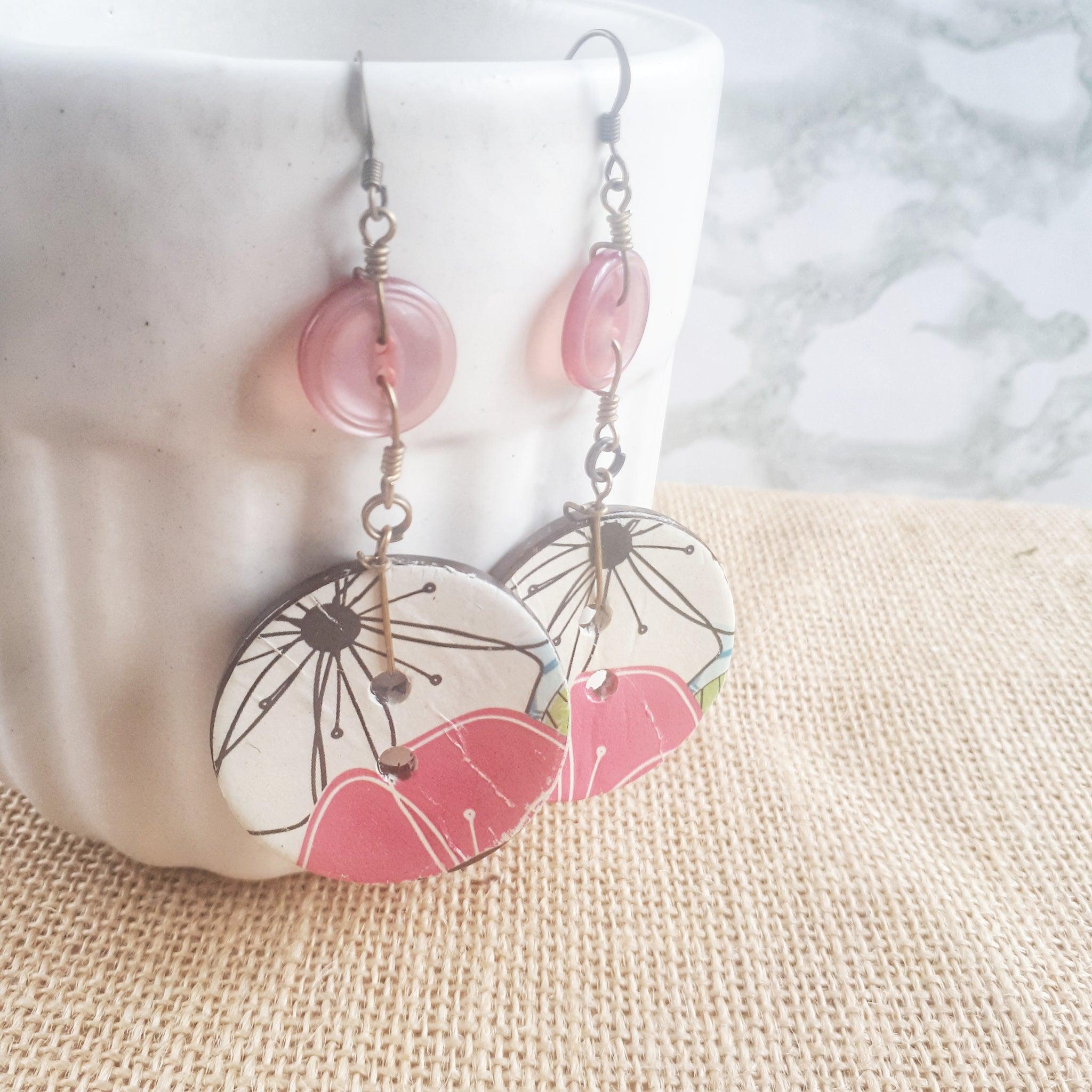 Coco Fleur Earrings - cherry tree