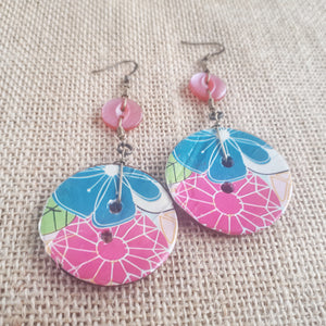 Coco Fleur Earrings - Tropical Blush