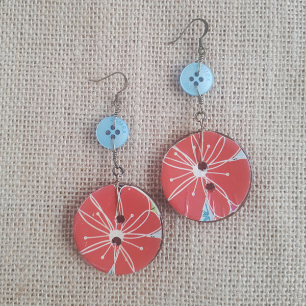 Coco Fleur Earrings - Crimson Bloom