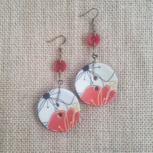 Coco Fleur Earrings - Japanese Garden