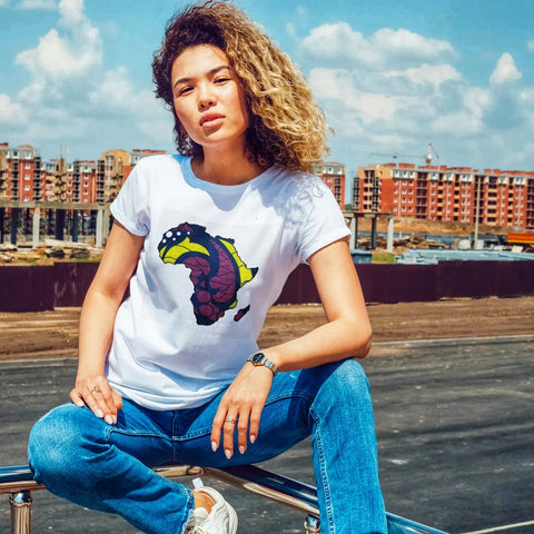 Relaxed Fit Africa Map Tshirt - Unisex