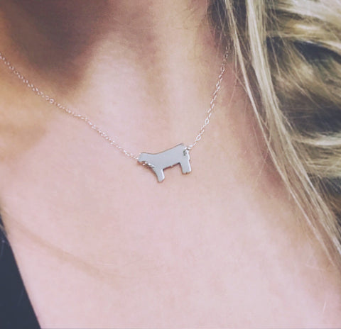 Pretty Steer Necklace- 17 Inch