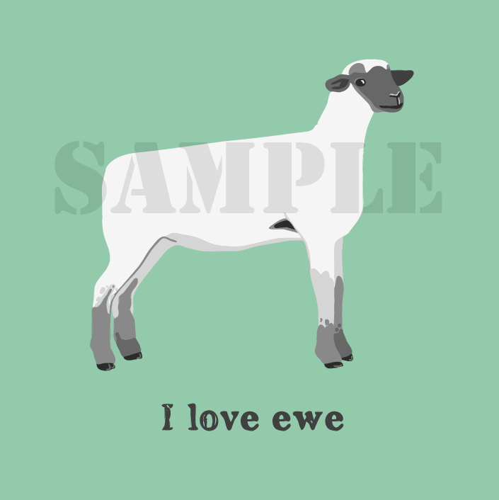 I Love Ewe Printable Card